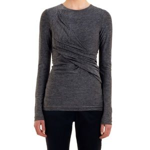T By Alexander Wang Twisted Marled Stretchy Top